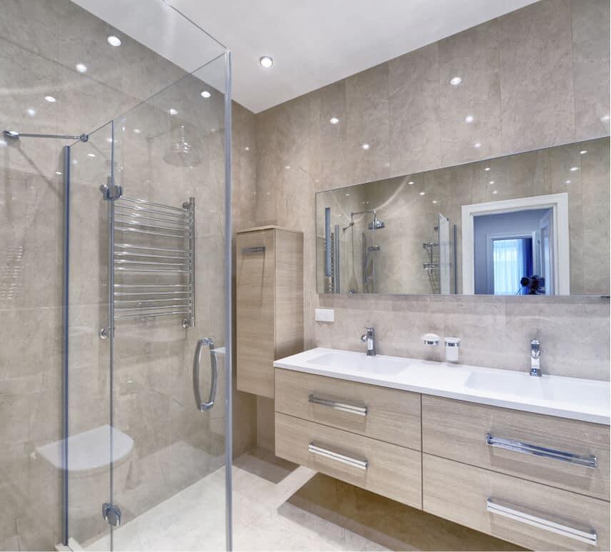 Luxury bathroom in apartment