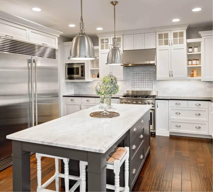 Proposed kitchen design in Apartment in Rittenhouse Square, Philadelphia PA